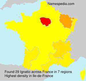 Surname Ignatio in France