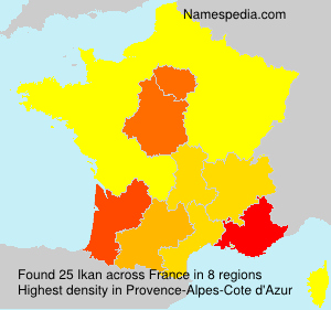 Familiennamen Ikan - France