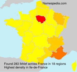 Surname Ikhlef in France