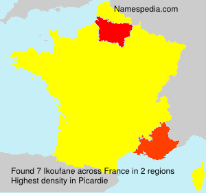 Surname Ikoufane in France