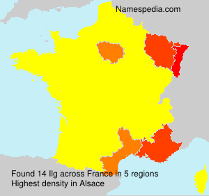 Surname Ilg in France