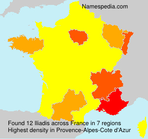 Surname Iliadis in France