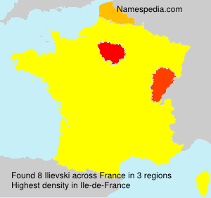 Surname Ilievski in France