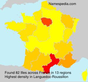 Familiennamen Illes - France