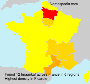 Surname Imaankaf in France