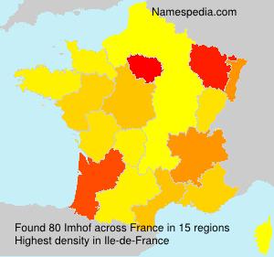 Familiennamen Imhof - France