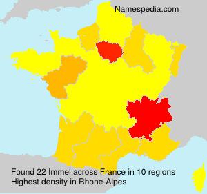 Surname Immel in France
