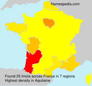 Surname Imola in France