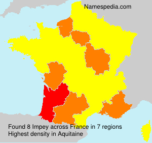 Surname Impey in France
