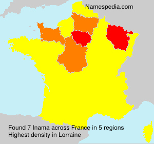 Familiennamen Inama - France