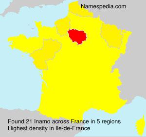 Familiennamen Inamo - France