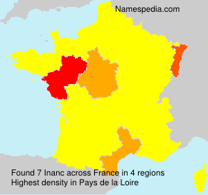 Surname Inanc in France