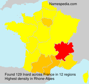 Familiennamen Inard - France
