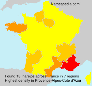 Familiennamen Inarejos - France