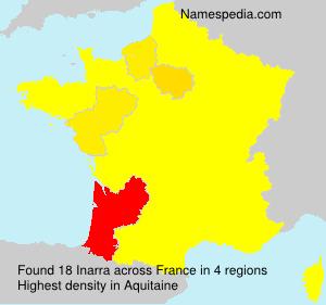 Familiennamen Inarra - France