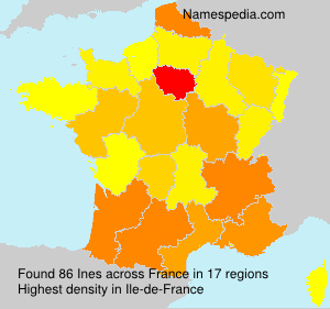 Surname Ines in France