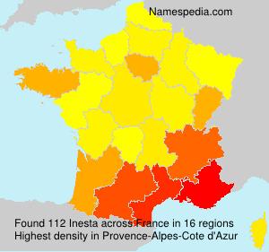 Surname Inesta in France