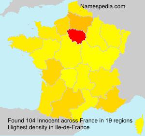 Familiennamen Innocent - France