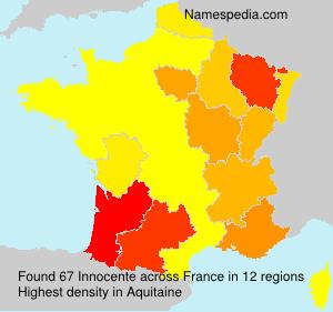 Familiennamen Innocente - France
