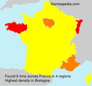 Familiennamen Inns - France