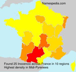 Familiennamen Inocencio - France