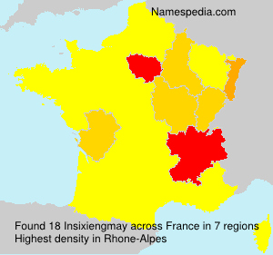 Surname Insixiengmay in France