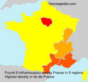 Surname Inthamoussou in France