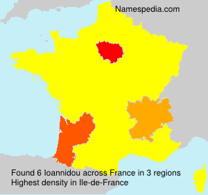 Surname Ioannidou in France