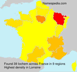 Surname Iochem in France