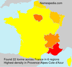 Surname Iovine in France