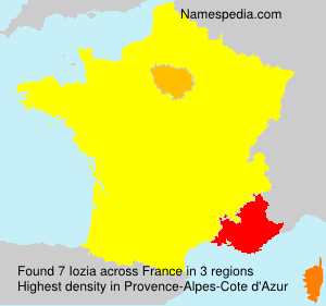 Surname Iozia in France