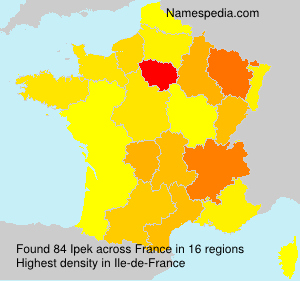 Surname Ipek in France