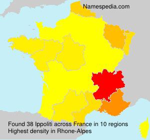 Surname Ippoliti in France
