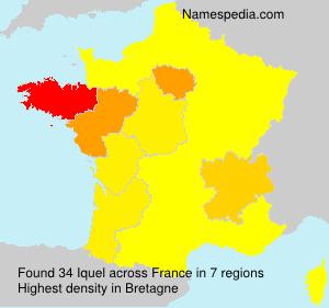 Familiennamen Iquel - France