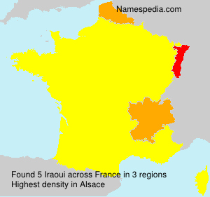 Surname Iraoui in France