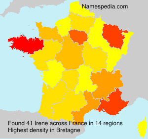Surname Irene in France