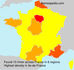 Surname Irmer in France