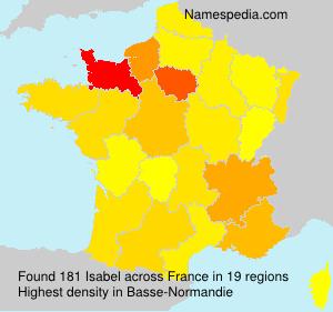 Familiennamen Isabel - France