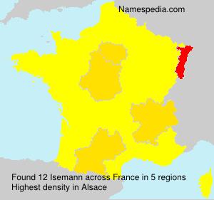 Surname Isemann in France