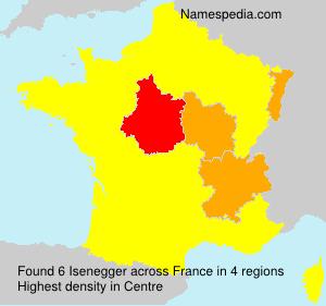 Surname Isenegger in France