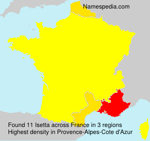 Surname Isetta in France