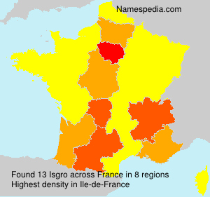 Surname Isgro in France