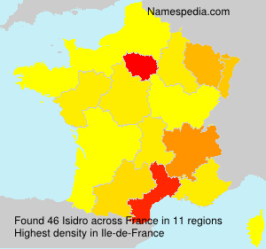Surname Isidro in France