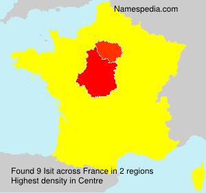 Familiennamen Isit - France