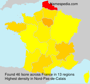 Surname Isore in France