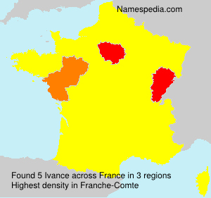 Surname Ivance in France