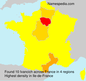 Surname Ivancich in France