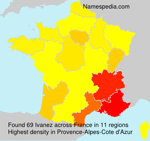 Surname Ivanez in France