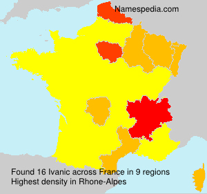 Surname Ivanic in France