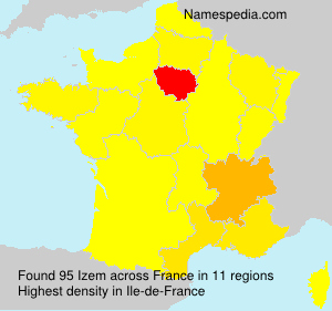 Surname Izem in France